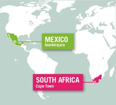 Projects Abroad is based in Guadalajara, Mexico, and Cape Town, South Africa