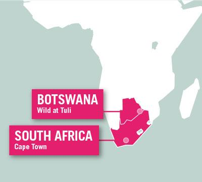Projects Abroad is based in Cape Town, South Africa, and at the Wild At Tuli Reserve, Botswana