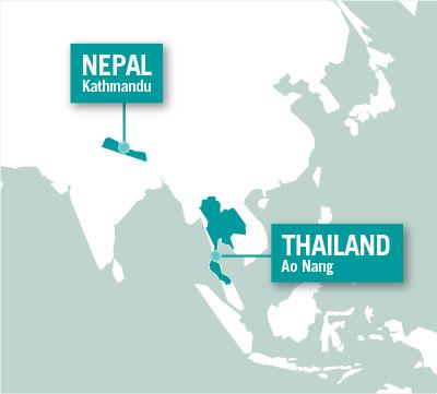 Projects Abroad is based in Kathmandu, Nepal and Ao Nang, Thailand