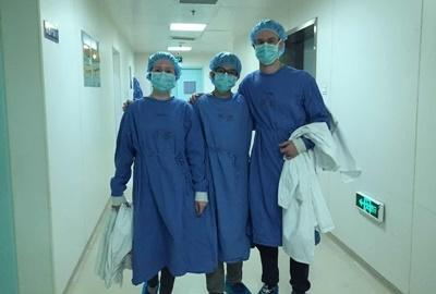 Projects Abroad medical interns together at a hospital in China, Asia