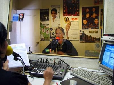 A Projects Abroad intern at a Radio placement in South America
