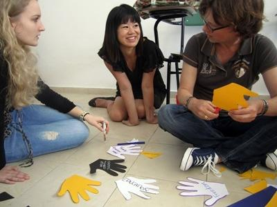 Projects Abroad volunteers on the Human Rights project in Argentina