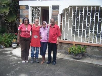 Female American Volunteer Meets her Host Family in Nakuru, Kenya