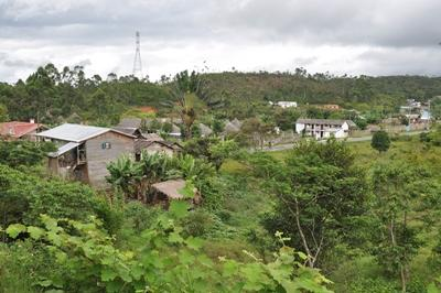 A view of Andasibe Village, Madagascar, where Projects Abroad is based.