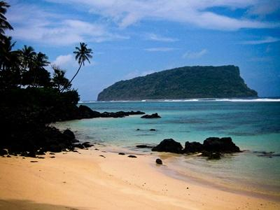 A view of a beach at the volunteer destination in Apia, Samoa