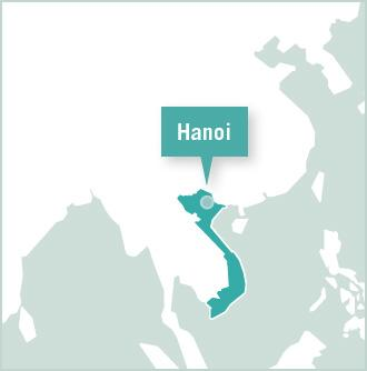 Map of Volunteer Project in Hanoi, Vietnam