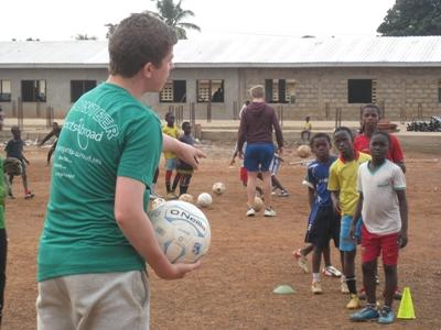 Volunteer Coaching Sports to young children in Africa with Projects Abroad
