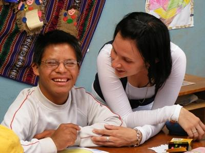 Volunteer with special needs children at a care center in Peru with Projects Abroad