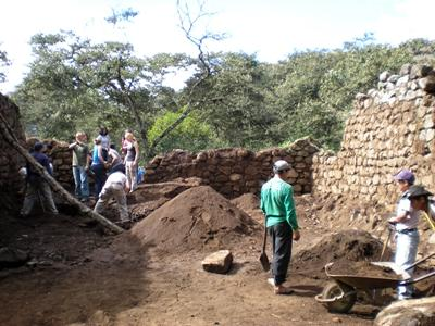 An Archaeology work site in South America