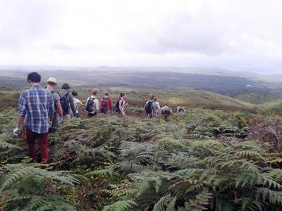 Projects Abroad volunteers take a walk on the Galapagos Islands