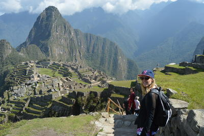 A visit to Machu Picchu was one of the highlights of this volunteers global gap program in Peru