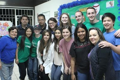 Projects Abroad volunteers with local staff at a placement in Mexico, North America.