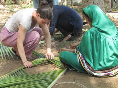 International Volunteer taking the opportunity to immerse herself in the local community