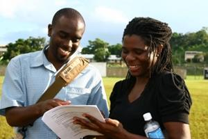 Local staff supervising a volunteer on a Peace Corps alternative project