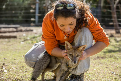 Volunteer with animals to treat animals in need of care
