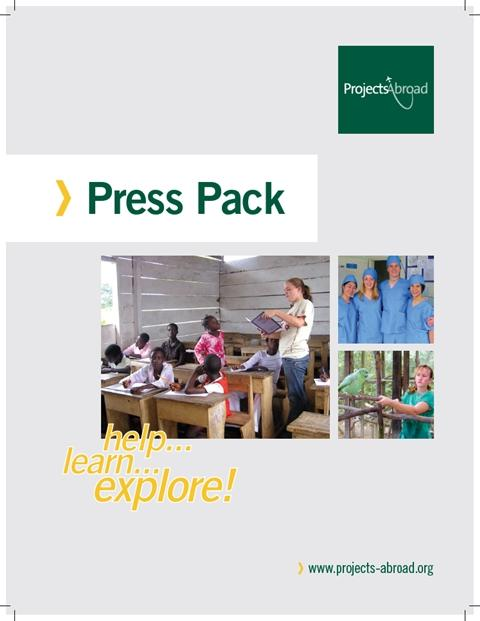 Cover of the Projects Abroad press pack