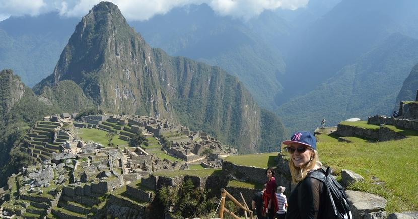 A Projects Abroad volunteer visits Machu Picchu in Peru during their time off from project work.