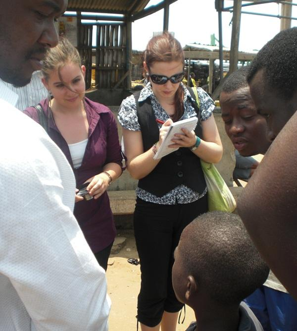 Human Rights interns conducting research in Ghana