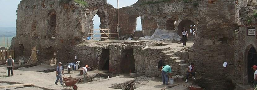 Stone structure on an Archaeology project overseas with Projects Abroad