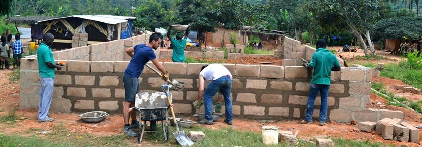 Volunteers make an impact at an international Building project