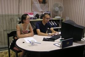 Local consultants who supervise Business interns have a meeting in Mongolia.