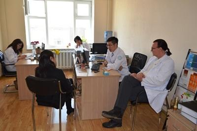 A patient attends an appointment with a professional psychologist at a health care center in Mongolia, Asia.