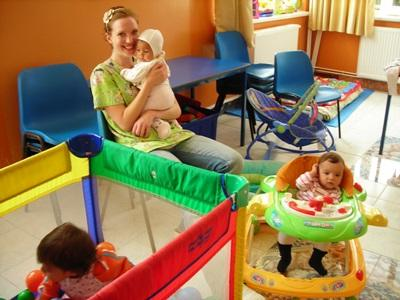 Volunteer with kids who have e special needs in a care center in Romania