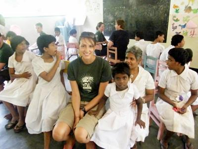 Care volunteer  in Sri Lanka working with special needs children with Projects Abroad