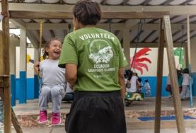 A kindergarten in Ecuador where volunteers help support children.