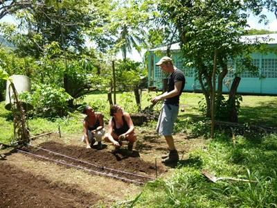 Volunteer work on land conservation on the Conservation project in Costa Rica
