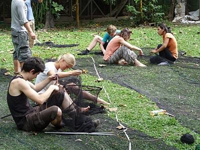 Volunteer on the rainforest conservation project work in the Amazon in Peru
