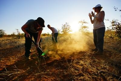Volunteers at African Bushveld Conservation project in Botswana
