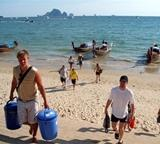Survey of the Beach Cleanup done by volunteers on the Conservation project in Thailand