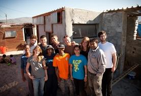 Volunteers, staff and locals on the Culture and Community Project in Cape Town, South Africa.