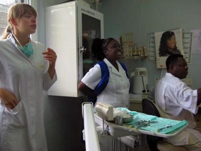Dentistry Student Electives works with Staff in a Clinic in Togo