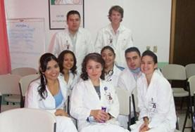 Volunteers with their supervisors on the Mexico Dentistry School Elective.