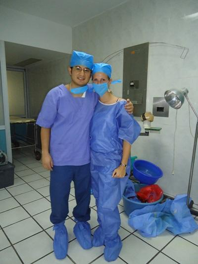 Medicine Elective Interns in Scrubs at a Hospital in Mexico