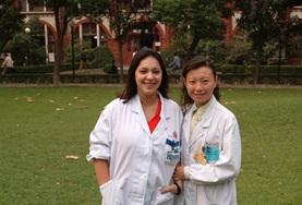 A volunteer with a local doctor during her Medical School Elective in China.