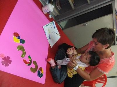 Occupational Therapy interns work with children on Elective placements in Thailand