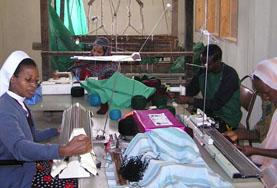 Volunteer on the International Development project work with small sewing business overseas