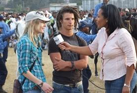 A volunteer is interviewed by her supervisor in Ethiopia as part of practise.