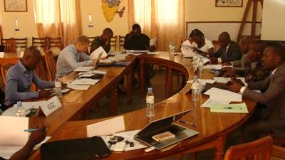 Law interns in Togo in a Human Rights meeting