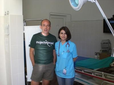 Intern with local staff in a hospital on the Medicine project in Romania