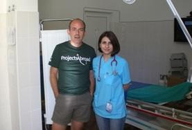 A Romanian doctor with her Projects Abroad medical intern in the emergency ward.