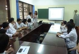 Nursing interns and staff attend a workshop in Vietnam.