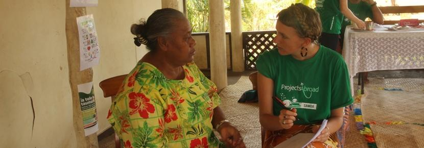 Volunteers work in local villages on the Nursing project overseas