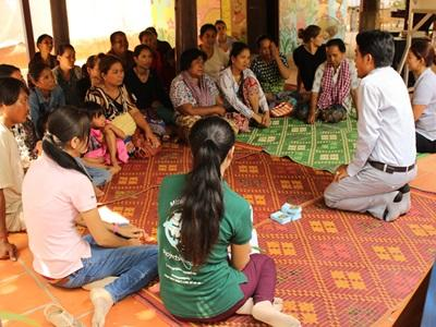 Projects Abroad Microfinance interns and staff run a training session for participants in Phnom Penh, Cambodia.