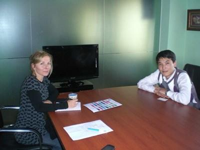 Volunteer Economist working with locals in Mongolia