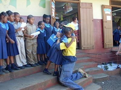 Professional volunteer at social work placement in Jamaica