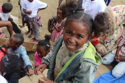 A young girl at a Care placement in Madagascar
